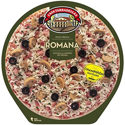 Casa Tarradellas - Pizza Fresca Romana, 410 g: Amazon.es ...