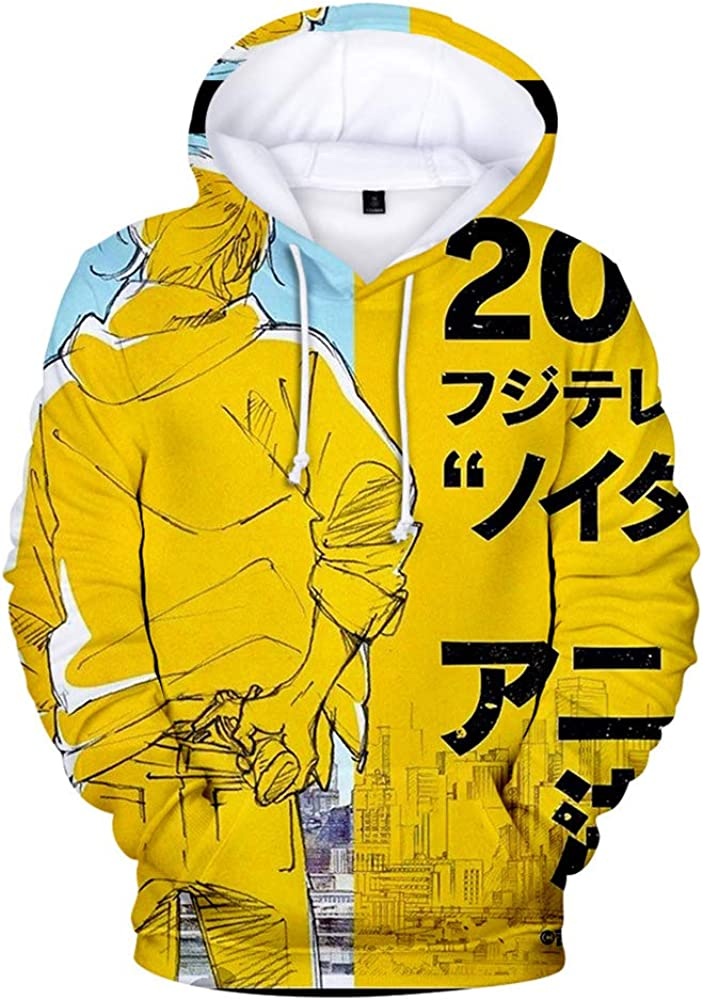 Banana Fish Pullover Print Fashion Pullover Thin Sports Tops Youthful Sweater Unisex