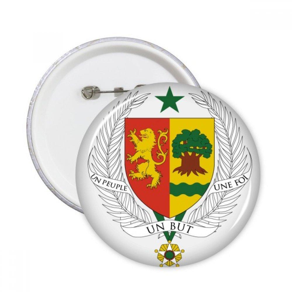 DIYthinker Button Senegal Africa Nazionale Emblem Pin circolari Distintivo 5pcs Abbigliamento regalo della decorazione Multicolore S DIYlab sku00291682f19577-S