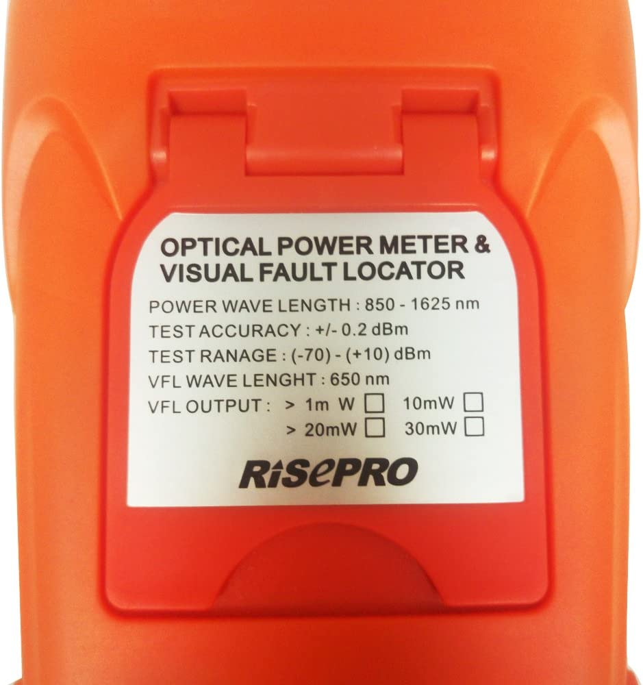 AUA12-O2 RISEPRO Fiber Optical Power Meter 70~+10dBm 30mw Portable Optic Fiber Power Tester with Sc and Fc Connector