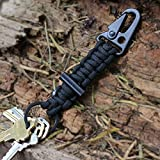 Paracord Carabiner Survival Keychain Lanyard by Bomber and Company ● Military Grade Type III 7 Strand 550 Lb Test Cord ● Premium Best Quality Outdoor Gear