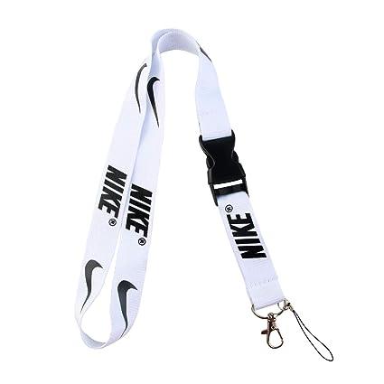 717b73ea09f77 Lanyard Keychain Holder Keychain Key Chain Black Lanyard Clip with Webbing  Strap (White)