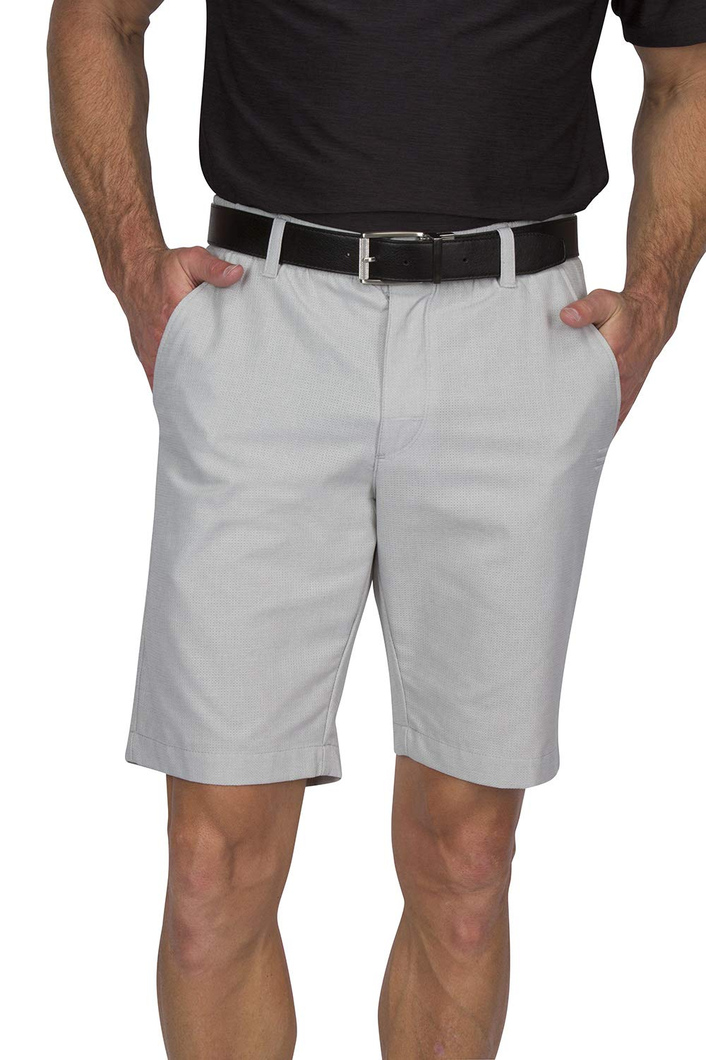 Three Sixty Six Dry Fit Golf Shorts for Men - Tapered Slim Fit Chinos - Mens Shorts Athletic