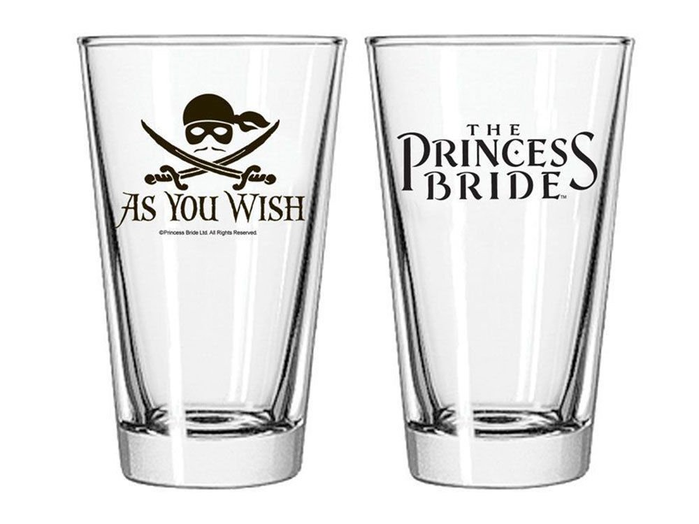 Princess Bride As You Wish Jolly Roger Pint Glass Ripple Junction
