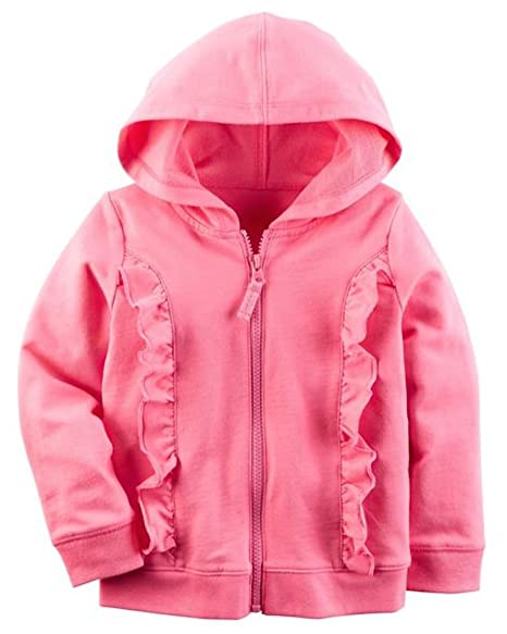Carters Pink Zip-Up French Terry Hoodie ...