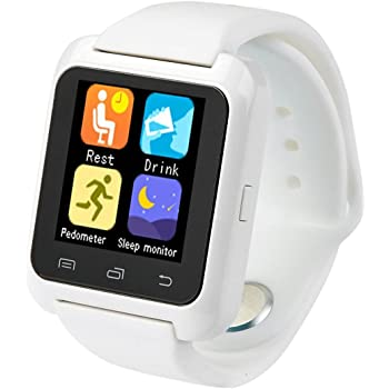 Smartwatch U8 Color Blanco Bluetooth Reloj Inteligente - Compatible iOS    Android 7471cf0ac7a