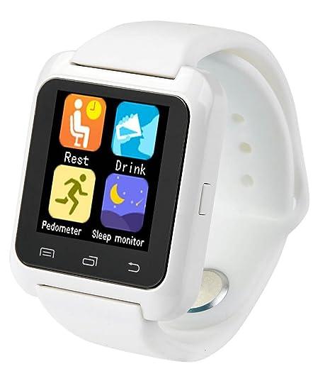 Smartwatch U8 Color Blanco Bluetooth Reloj Inteligente - Compatible iOS    Android  Amazon.com.mx  Electrónicos 859f6a30373