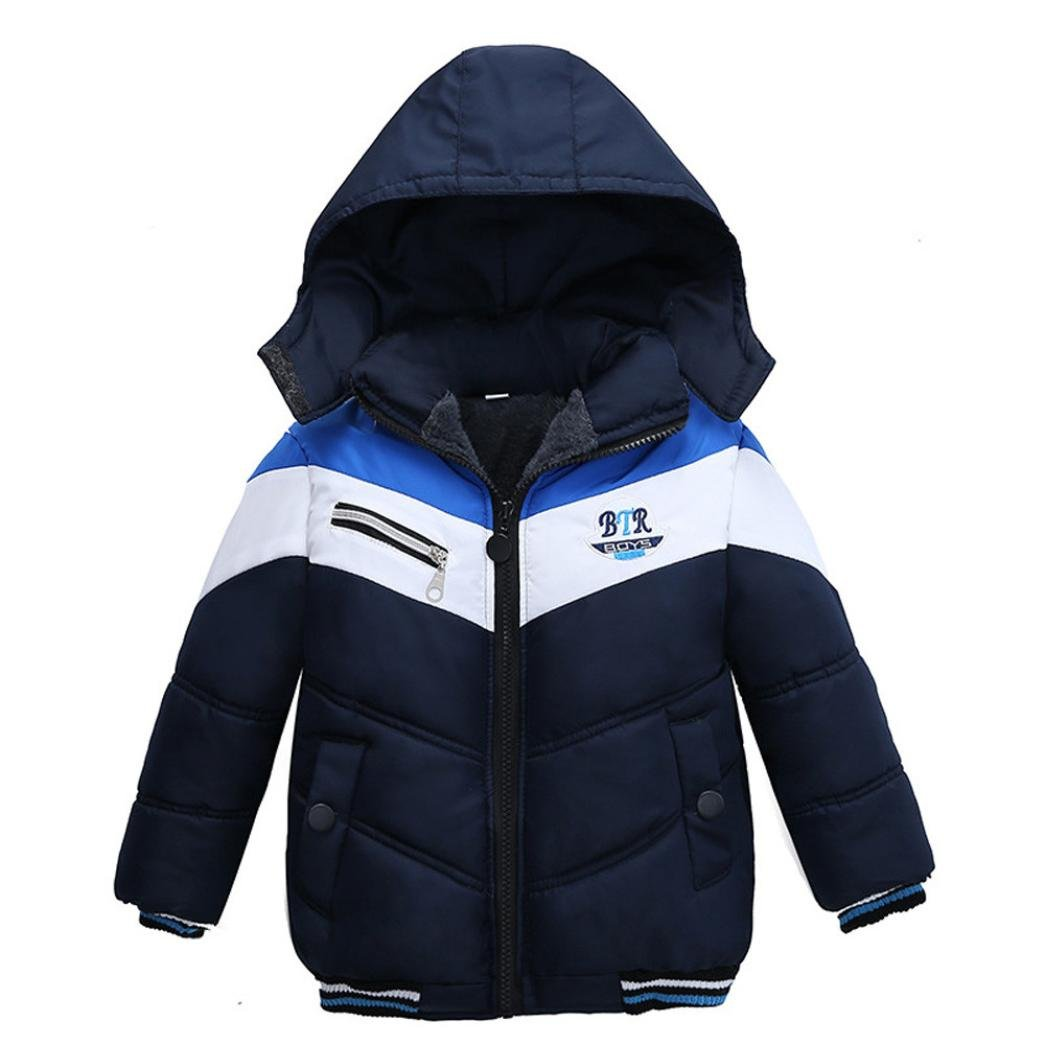 Boys Coats, SHOBDW Kids Girls Fashion Letter Hooded Thick Zip Padded Winter Warm Jacket Clothes SHOBDW-41