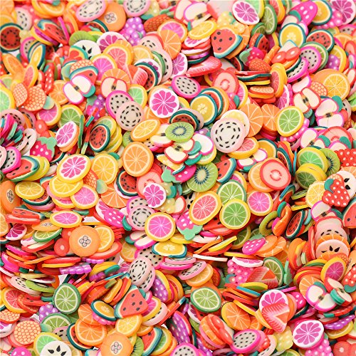DECORA 50 Gram Fruit Slices Perfect for Sticking to Slime, DIY Crafts, Nail Art and Decoration