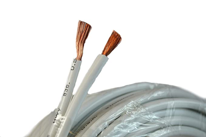 Amazon.com: 12 Gauge 25 Feet White Speaker Wire Zip Cable Copper Clad Car Audio Stereo: Home Audio & Theater