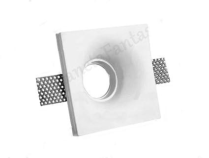 Porta Faretto in Gesso Ceramico Fisso a Scomparsa PF3-S   Molla Blocca Lampadina