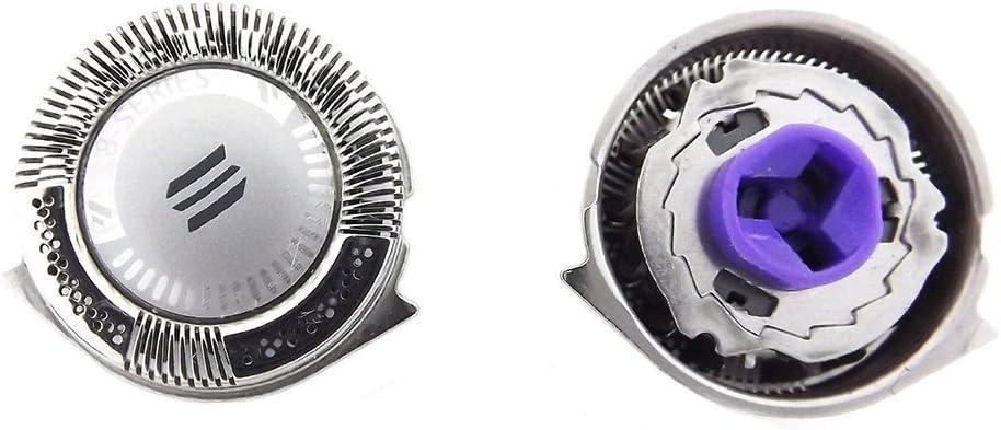 oral-q 3pcs doble cuchillas de repuesto para PHILIPS AT890 afeitadora cabezales para cuchilla afeitadora Foil + Cutter con cepillo de limpieza
