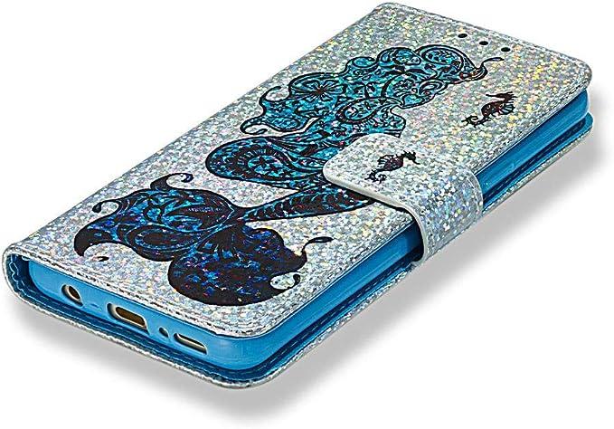 Funda Carcasa para Galaxy S9, Soporte Soporte [Soporte] Funda [Absorbe los Golpes] Funda de Piel sintética con Interior Suave y Soporte magnético para Tarjetas Compatible con Samsung Galaxy S9: Amazon.es: Electrónica