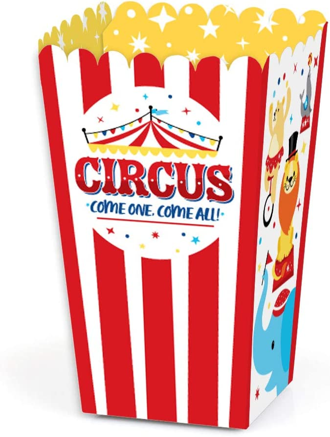 Circus Party Popcorn Boxes