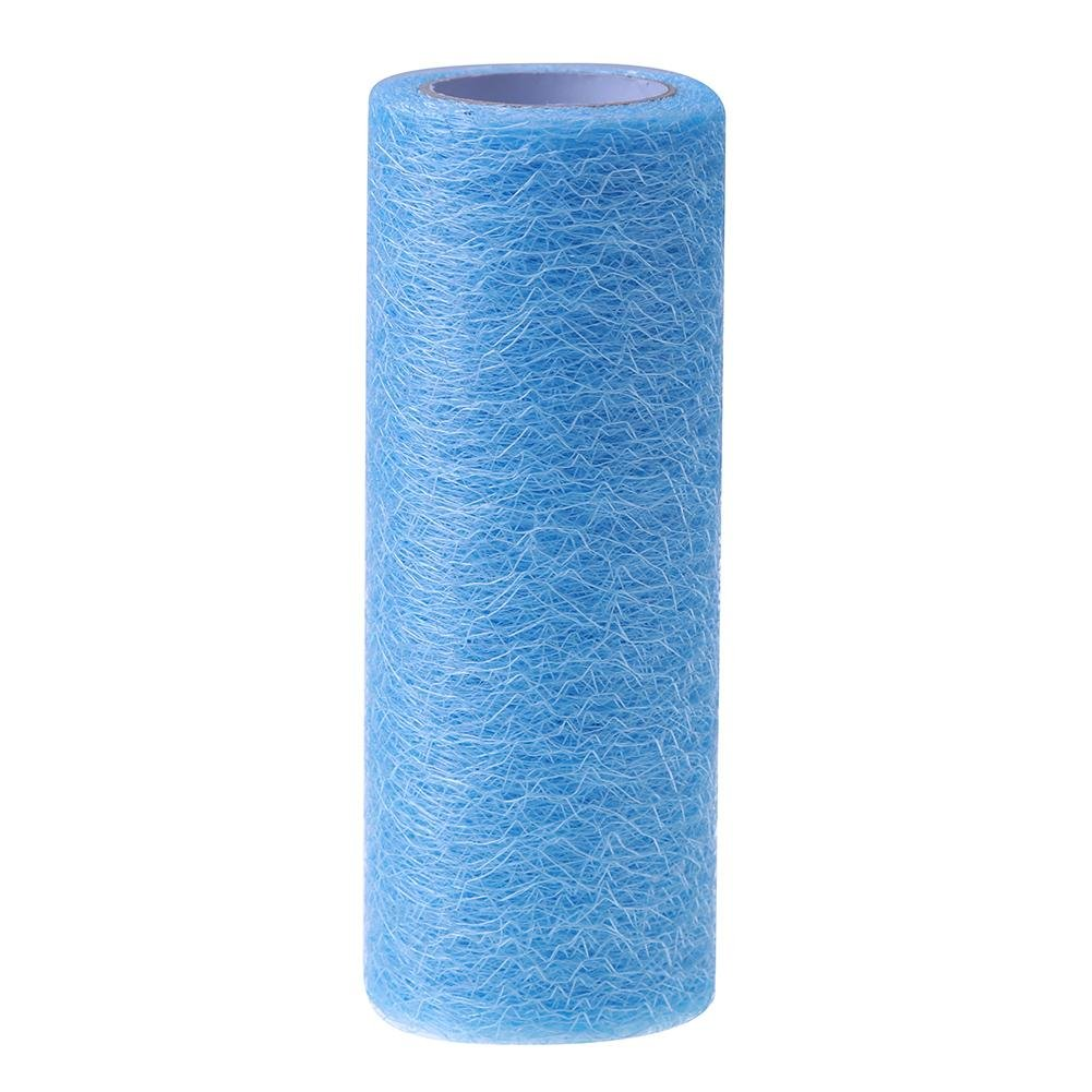 Demiawaking 10 Yards Filamentous Net Tulle Roll Spool Wedding Table Runner Chair Sashes Fabirc Tutu Skirt for DIY Craft Wedding Festival Party Decoration (Light Blue)
