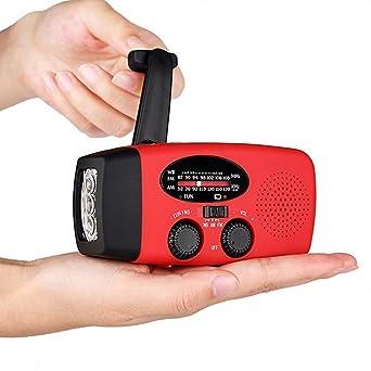 Emergency Hand Crank Generator Solar AM//FM//WB Radio Flashlight Charger Camping