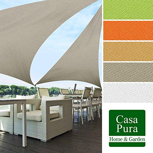 casa pura Sail Shade | UV Block Outdoor Canopy | Sun Shade for Patio and Garden | Triangle | Multiple Sizes | Gray - 16' x 16' x 16'