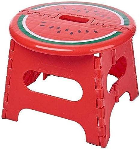 Taburete Pequeño Escalera Plegable De Madera Taburete Plegable De Fruta Taburete Portátil De Engrosamiento De Plástico Silla Portátil Banco Para Niños Adultos Banco-25.5X23.5X22Cm,Red-4Babystool: Amazon.es: Hogar