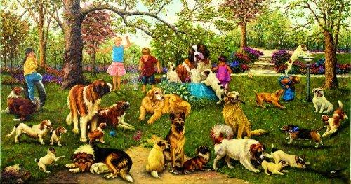 - SunsOut Dog Park 500pc Jigsaw Puzzle by Sandi Lebron