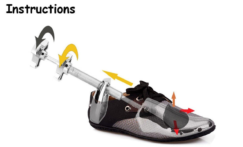 Metal Shoe Stretcher Men USA Size 5-12 (EU 39-46) Flat Shoes Tree 2-Way Adjustable Wide Width Length Expander Double Shaft