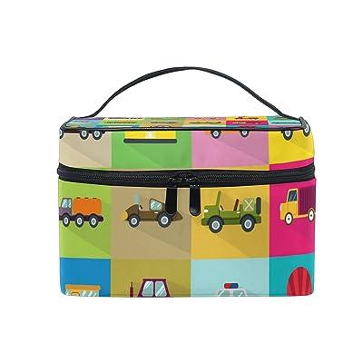 ALIREA 30 Transport Icons Cosmetic Bag Travel Makeup Train Cases Storage Organizer