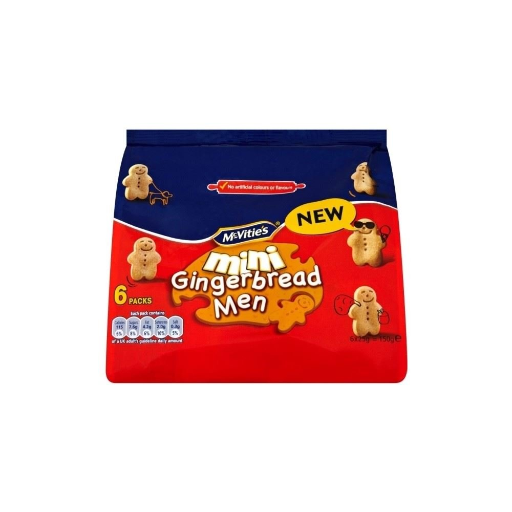 McVitie's Mini Gingerbread Men (6 per pack - 150g) Groceries