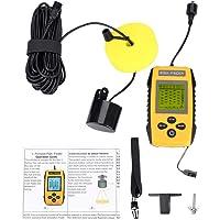 Buscador de Peces portátil con transductor de Sensor de sonda y Accesorio de Pesca con Pantalla LCD para Pescar