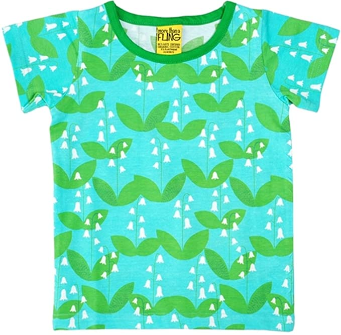 2810f640a9b64 DUNS Sweden Duns Lily of The Valley Short Sleeve Organic Cotton Top (68cm/2