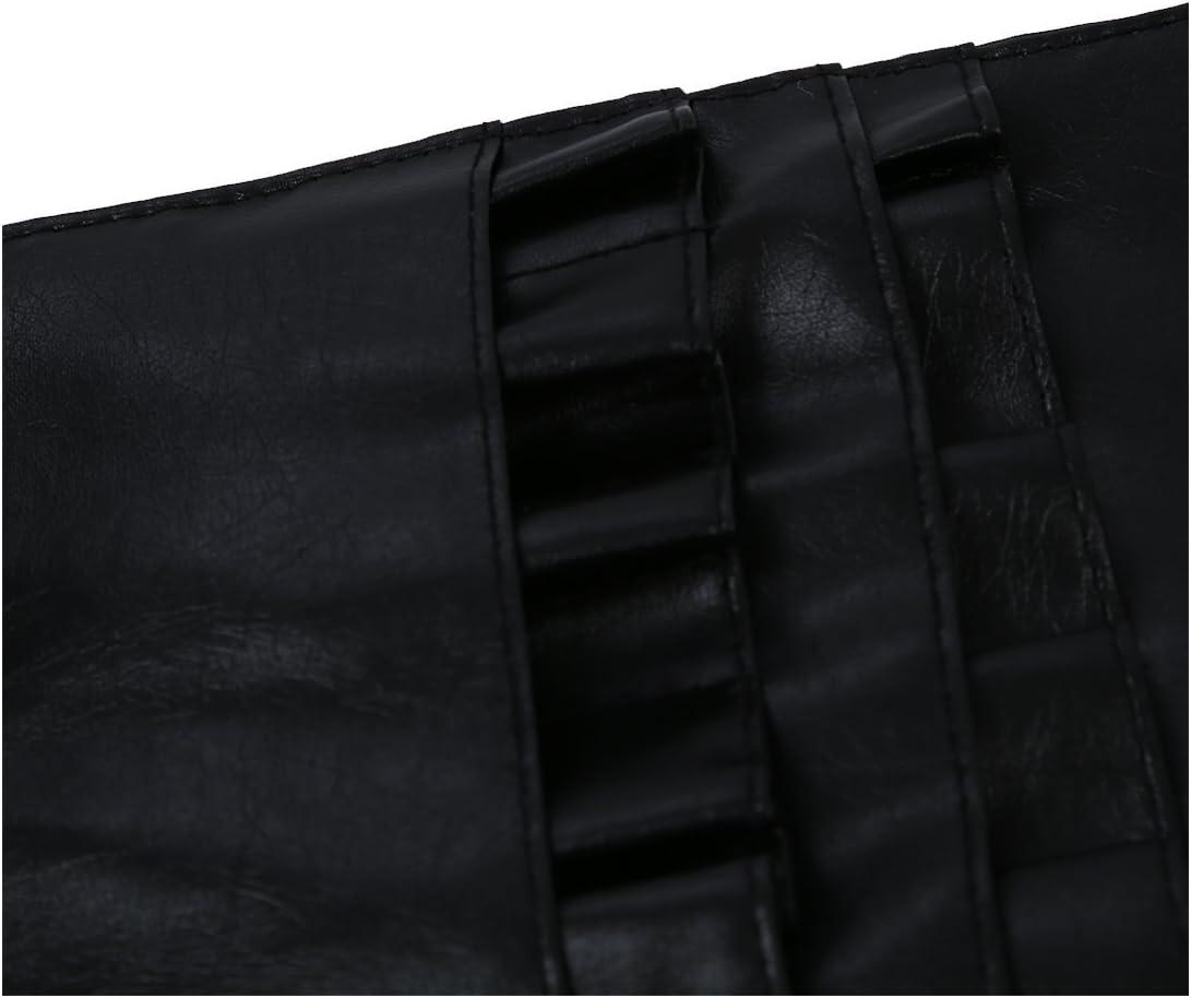 12 poches Maquillage PVC pinceau cosmetique professionnelle Tablier Sac Artiste Ceinture attache de la noir TOOGOO R