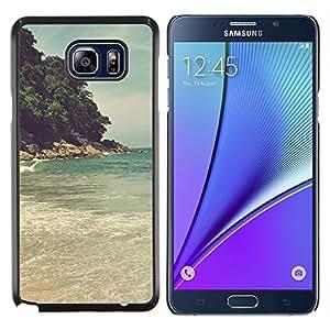 TECHCASE---Cubierta de la caja de protección para la piel dura ** Samsung Galaxy Note 5 ** --Island Beach Sea Wave