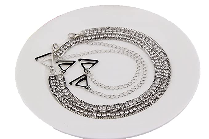 Rhinestone sujetador brazalete de hombro invisible brazalete de diamantes bra correa de hombro antideslizante: Amazon.es: Ropa y accesorios