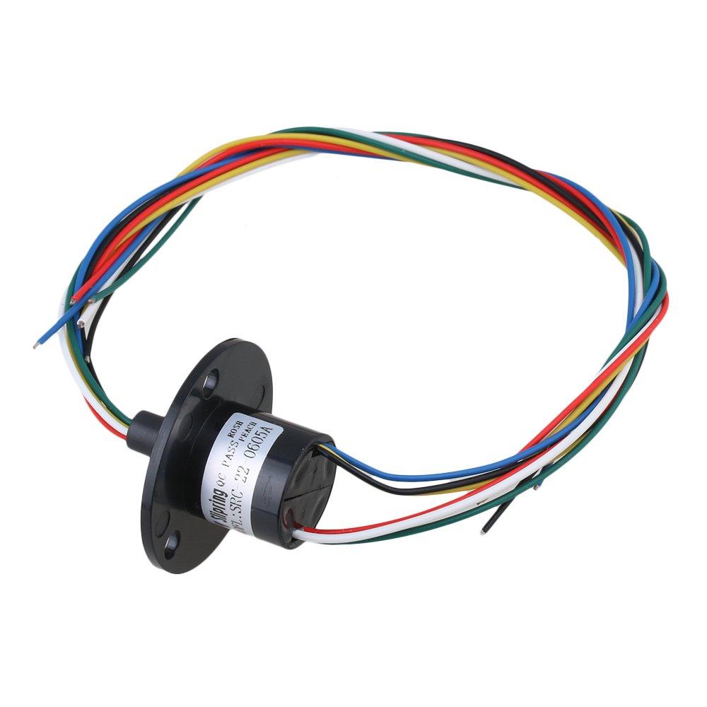 cnbtr actual conductores circuitos Slip Anillo 500RPM colector de energí a 240 V CA/D anillo 22 mm, negro yqltd