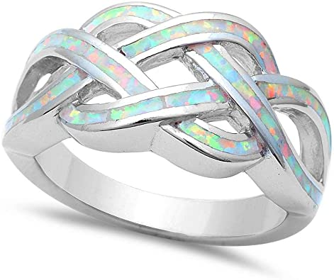 Princess Kylie 925 Sterling Silver Celtic Heart Design Ring