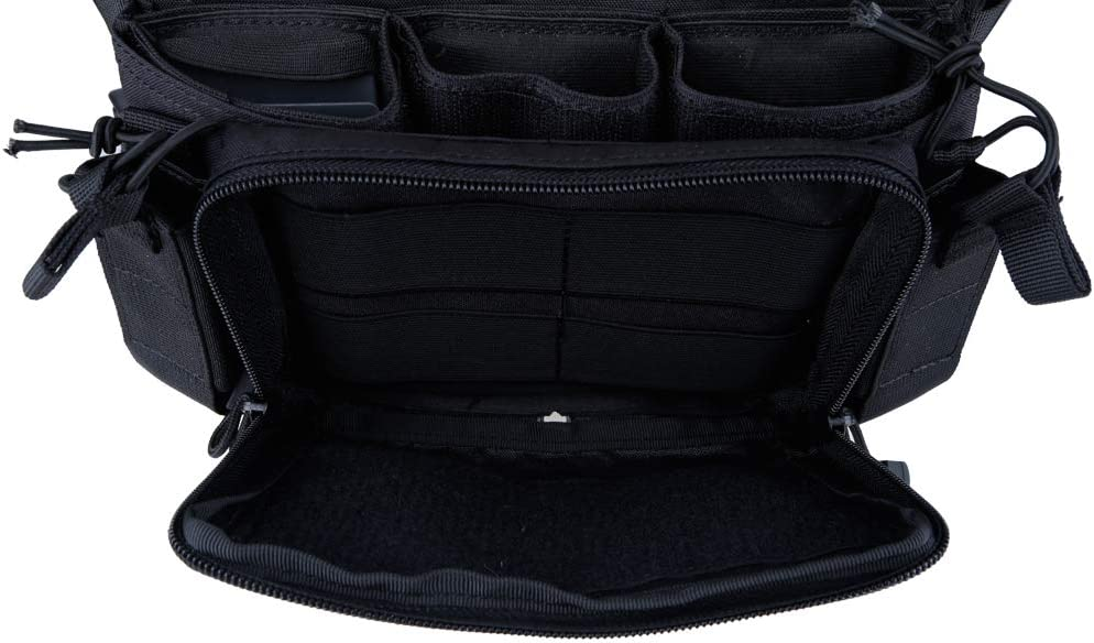 LEBEE Chest Rig Tactical Airsoft Weste Mit 5.56 9mm Pistolenmagazintaschen Und Aufbewahrungstasche,A