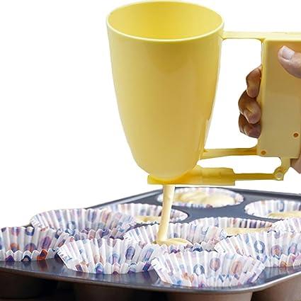 Embudo dispensador reposteria para tartas cookies muffin cupcake pancake tortitas amarillo de CHIPYHOME