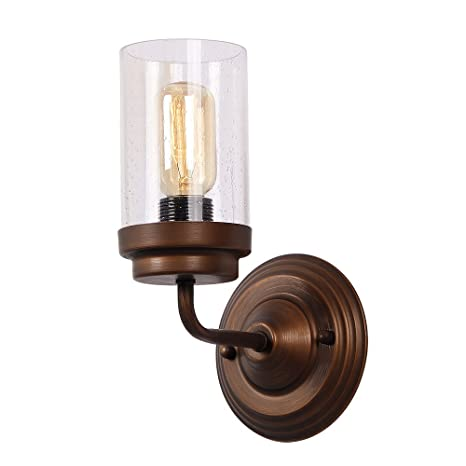 Eumyviv 17705 1-Light Vintage Industrial Metal Wall L& with Bubble Glass Shade Retro Rustic  sc 1 st  Amazon.com : wall sconces antique - www.canuckmediamonitor.org