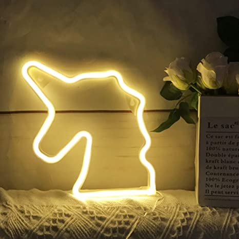 Amazon.com: QiaoFei - Luz de neón con forma de cartel de ...