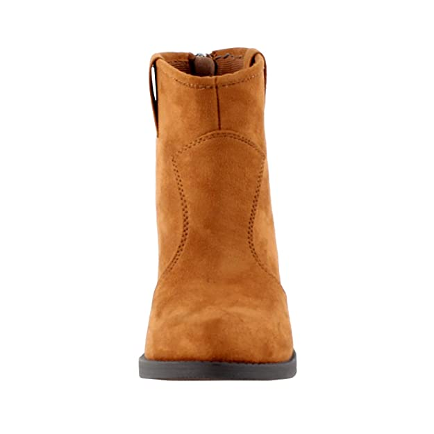 Soda Albert de la Mujer Faux Suede Cowboy pestaña Apilados tacón Tobillo Botines: Amazon.es: Zapatos y complementos