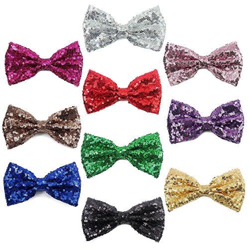 Sacarla Sparkling Bows Clips 10 Piece Glitter Sequins 5