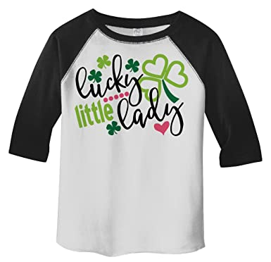 7e7e4acc69367 Amazon.com: Shirts By Sarah Girl's Toddler Lucky Little Lady ST ...