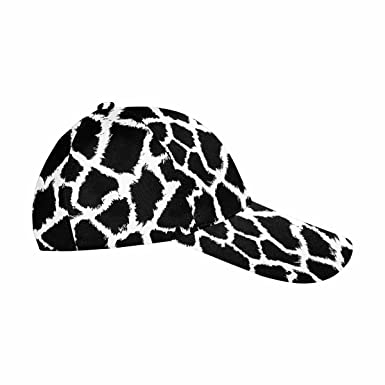 e4c3d462bf7 Image Unavailable. Image not available for. Color  InterestPrint Giraffe  Skin Pattern Classic Dad Hat Adjustable Hip-hop Cap