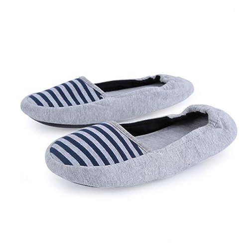 AIRIKE Women s Slip-ONS House Slippers Home No Slip Shoes Ballerina Dancing  Yaga Driving Flat 3c2ea5cd2896