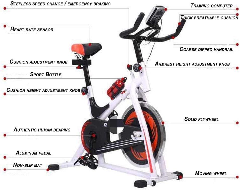 BF-DCGU A estrenar Bicicletas de Spinning, Ultra silencioso Bicicletas Inicio de Ejercicio, Equipo de Gimnasio, Bicicletas de Pedales de Culturismo, Ciclismo para Bajar de Peso,Blanco: Amazon.es: Hogar