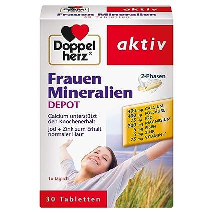 Doble Corazón Mujeres minerales fase 2, 30 comprimidos de liberación prolongada