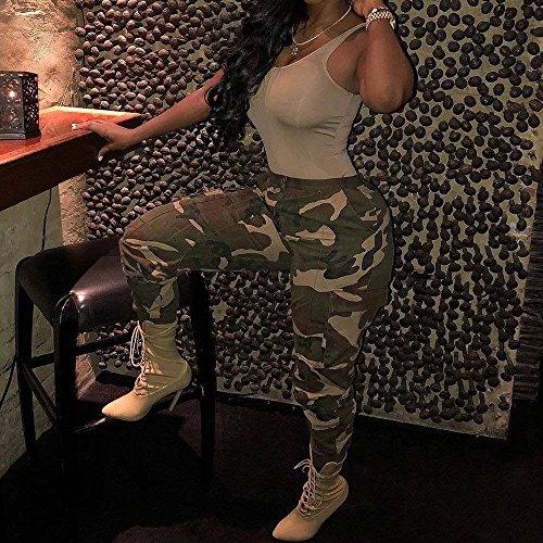 Prodotto Con Fashion Pantaloni Hip Giovane Donna Vintage Sciolto Tempo Tasche Alla Pantaloni Waist Hop Women Grazioso Pantaloni Gelb Militari Libero Harem Eleganti Moda High Cargo Plus Stile Pantaloni qawqtdPz