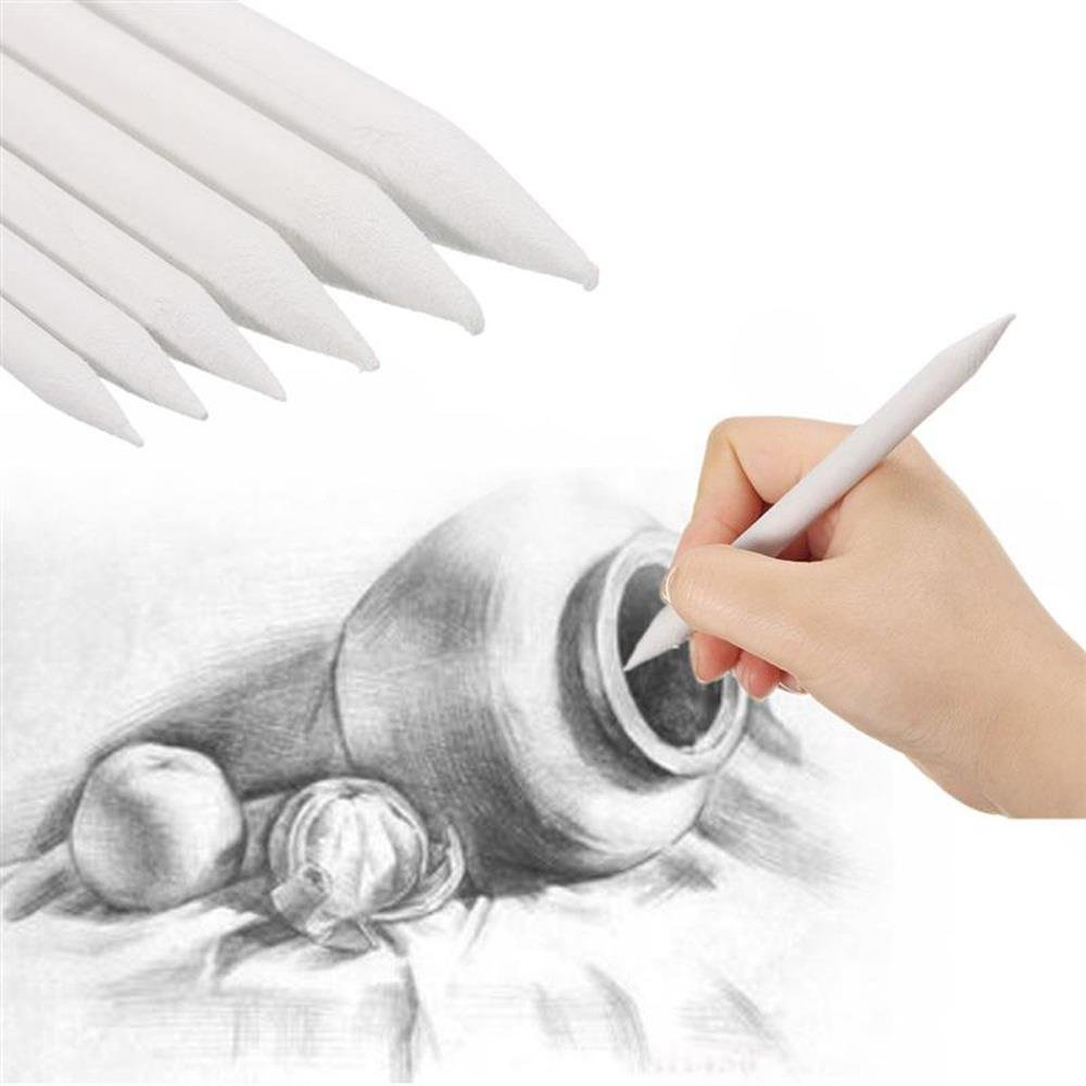 Drawing Accessories Set Blending Stumps and Tortillions With 2 Pcs Pencil Sandpaper Pointer by HONGTIAN