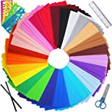 """Winlyn 96 Sheets Bright Foam Sheets 24 Assorted Rainbow Colors Craft Foam Sheets EVA 9x6"""" 2mm Thick with Scissor…"""