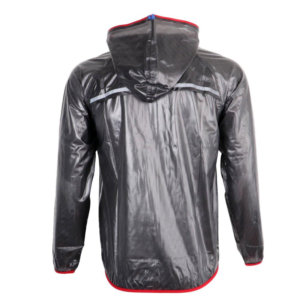 MagiDeal Herren Damen Windjacke Regenjacke Wasserdicht Winddicht Atmungsaktiv Regenhose Regenanzug Fahrradregenjacke Fahrradjacke