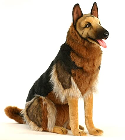 Amazon Com Hansa German Shepherd Stuffed Animal Sitting Toys Games