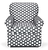 Stork Craft Polka Dot Upholstered Swivel Glider - Gray/White